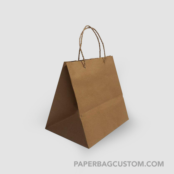 Paper Bag Coklat Custom Design- samping kanan