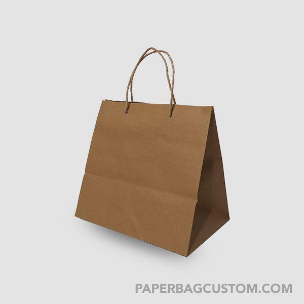 Paper Bag Coklat Custom Design- samping kiri